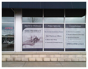 York Pharmacy Window Graphics