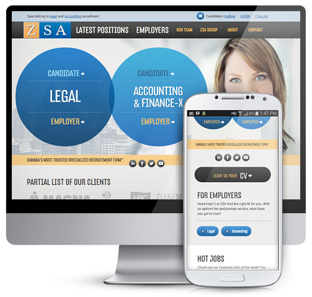 ZSA Responsive Website Conversion