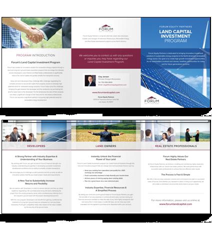 Forum Land Capital Investment Program – Gatefold Presenter